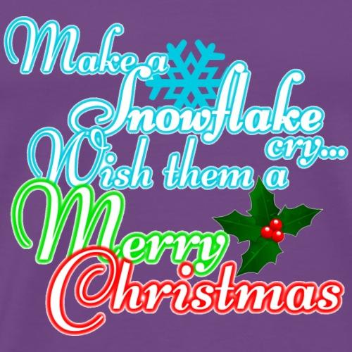 Snowflake Cry Merry Christmas - Men's Premium T-Shirt