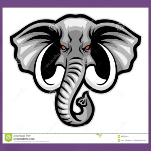 elephant head mascot - Men's Premium T-Shirt