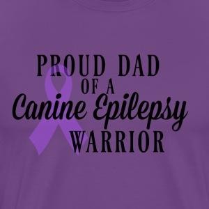 Proud Dad of a Canine Epilepsy Warrior - Men's Premium T-Shirt