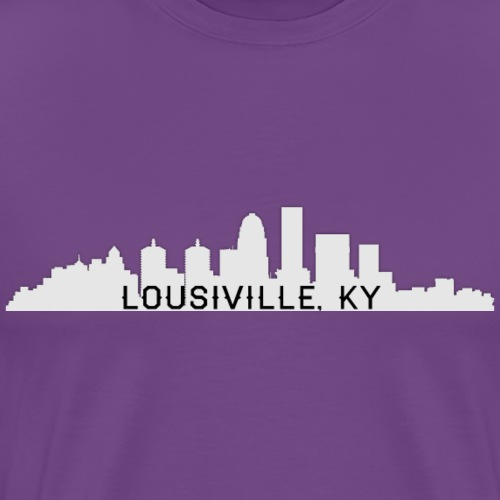 Louisville Skyline White - Men's Premium T-Shirt