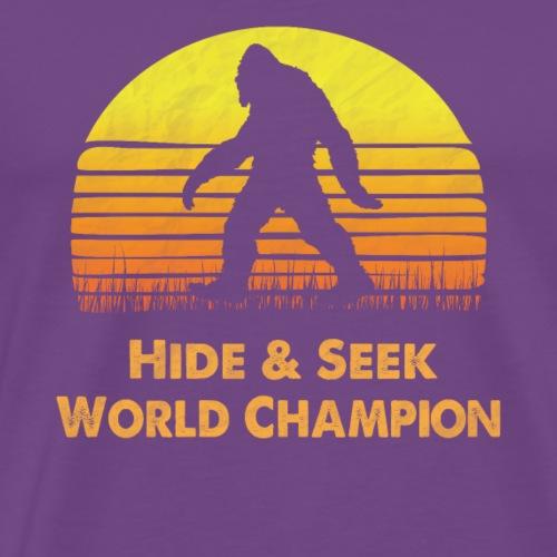 Hide Seek World Champion bigfoot funny shirt gift - Men's Premium T-Shirt