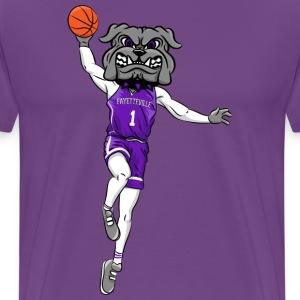 custom bulldog mascot gray basketball - Men's Premium T-Shirt