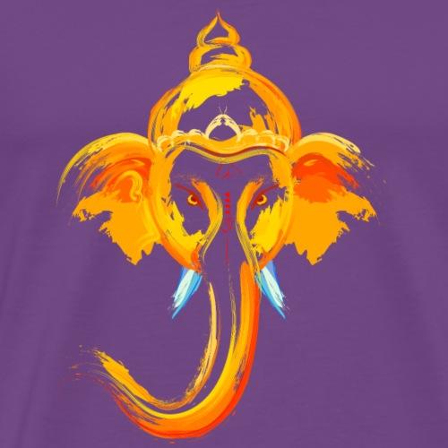 Animal elephant head watercolor painting wildlife - Men's Premium T-Shirt