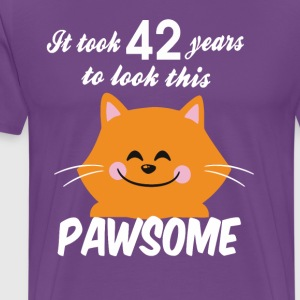 It took 42 years to look this pawsome - Men's Premium T-Shirt
