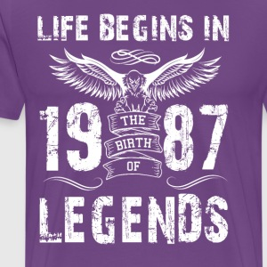 Life Begin In 1987 Legends - Men's Premium T-Shirt