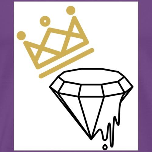 Diamond King Design   Tiggah The Rapper - Men's Premium T-Shirt