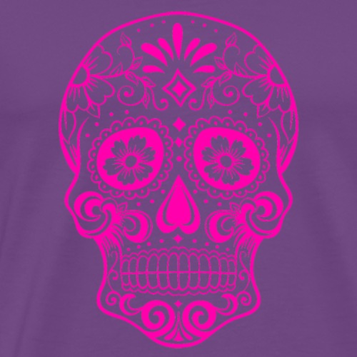 Decorative transparent skull, pink - Men's Premium T-Shirt
