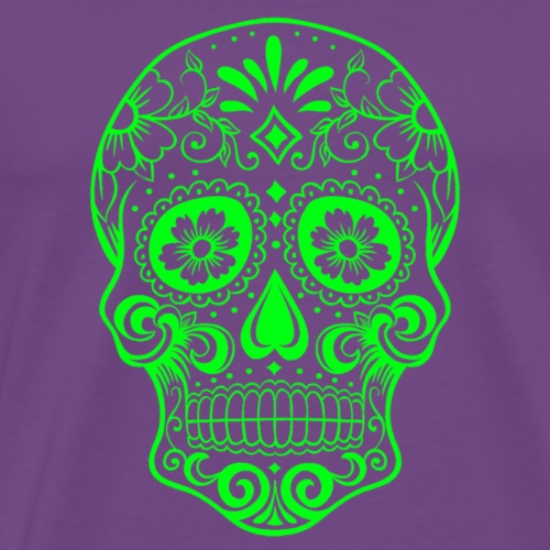 Decorative transparent skull, green - Men's Premium T-Shirt