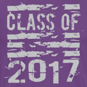 Class of 2017 Cool Grunge Typography - Men's Premium T-Shirt