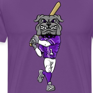 custom bulldog mascot gray baseball - Men's Premium T-Shirt
