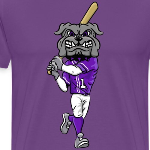 custom bulldog mascot gray baseball - Men's Premium T-Shirt