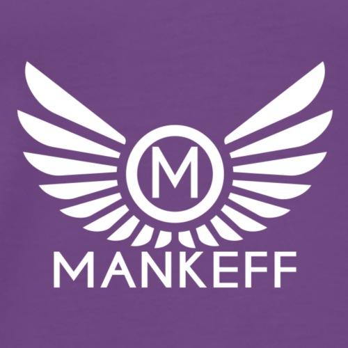Mankeff White Logo With Name - Men's Premium T-Shirt
