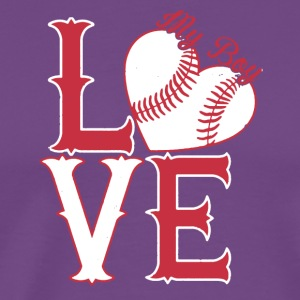 I Love My Softball Boy Shirt - Men's Premium T-Shirt