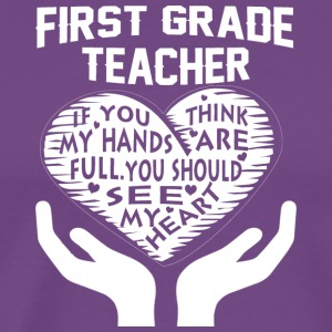 First Grade Teacher T Shirt - Men's Premium T-Shirt
