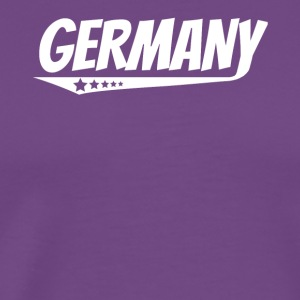 Germany Retro Comic Book Style Logo German - Men's Premium T-Shirt