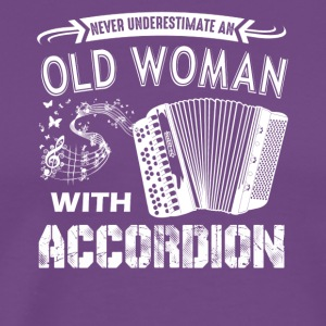 Old Woman With Accordion Shirt - Men's Premium T-Shirt