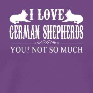 I Love German Shepherds Tee Shirt - Men's Premium T-Shirt
