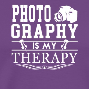 Photography Is My Therapy Tee Shirt - Men's Premium T-Shirt