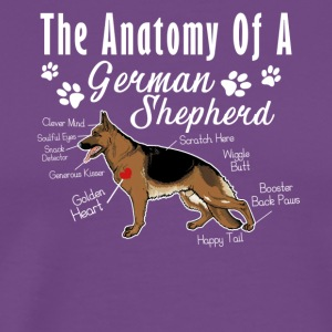 The Anatomy Of A German Shepherd Shirt - Men's Premium T-Shirt