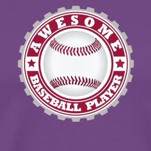 Awesome Baseball player - Men's Premium T-Shirt