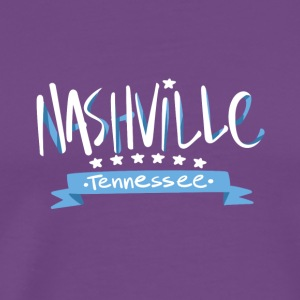 Tennessee Nashville, The Place To Be U.S T-Shirt - Men's Premium T-Shirt