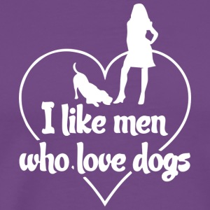 Love Dogs Woman Gift - Men's Premium T-Shirt
