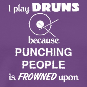 Drummer Love Gift- cool shirt,geek hoodie,tank - Men's Premium T-Shirt