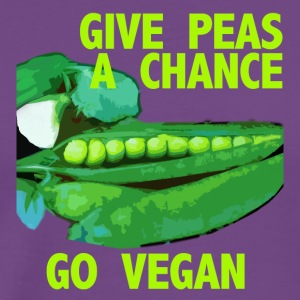 GIVE PEAS A CHANCE - Men's Premium T-Shirt