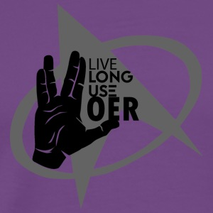 Live Long Use OER - Men's Premium T-Shirt