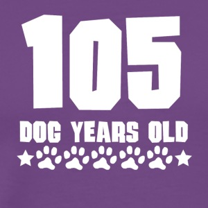 105 Dog Years Old Funny 15th Birthday - Men's Premium T-Shirt
