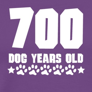 700 Dog Years Old Funny 100th Birthday - Men's Premium T-Shirt