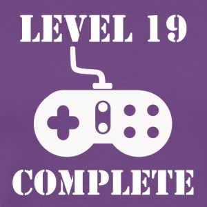 Level 19 Complete 19th Birthday - Men's Premium T-Shirt