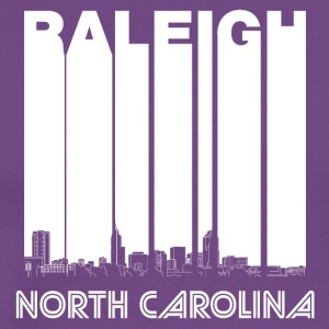 Retro Raleigh North Carolina Skyline - Men's Premium T-Shirt