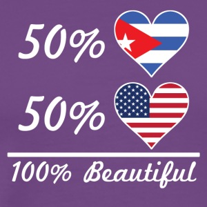 50% Cuban 50% American 100% Beautiful - Men's Premium T-Shirt