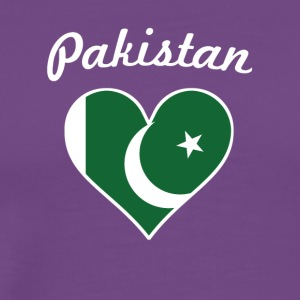 Pakistan Flag Heart - Men's Premium T-Shirt