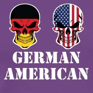 German American Flag Skulls - Men's Premium T-Shirt