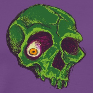 Rotten Skull Green - Men's Premium T-Shirt