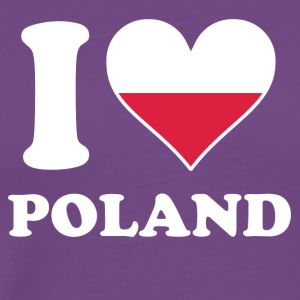 I Love Poland Polish Flag Heart - Men's Premium T-Shirt