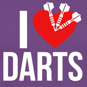 I LOVE DARTS - Men's Premium T-Shirt