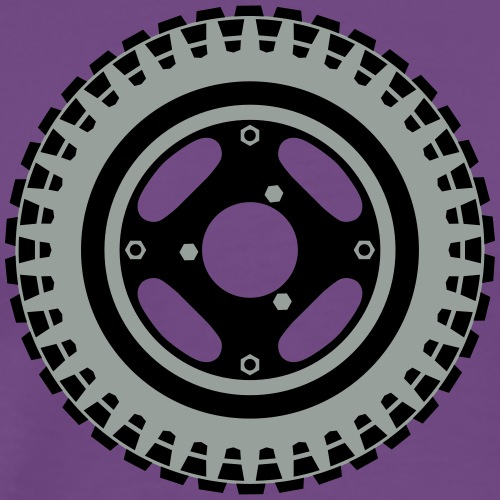 Z50 Wheel (Eighties & Nineties) - Men's Premium T-Shirt