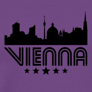 Retro Vienna Skyline - Men's Premium T-Shirt