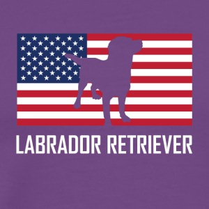 Labrador Retriever American Flag - Men's Premium T-Shirt