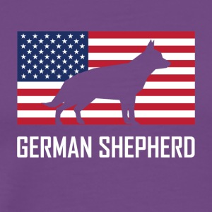 German Shepherd American Flag - Men's Premium T-Shirt