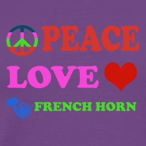 Peace love French Horns - Men's Premium T-Shirt