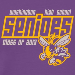 Washington High School Seniors Hornets - Men's Premium T-Shirt