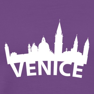 Arc Skyline Of Venice Italy - Men's Premium T-Shirt