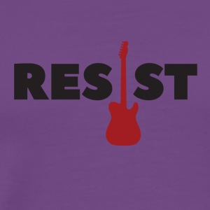 Resist, electric guitar - Men's Premium T-Shirt