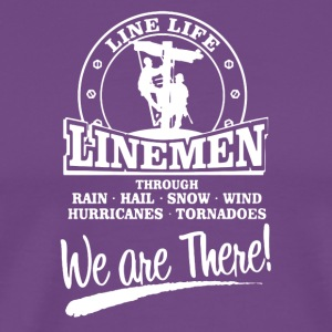 Lineman We Are There Left Chest Tee Shirt - Men's Premium T-Shirt