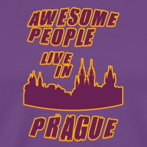 pRAGUE Awesome people live in - Men's Premium T-Shirt