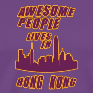 honG kong Awesome people live in - Men's Premium T-Shirt